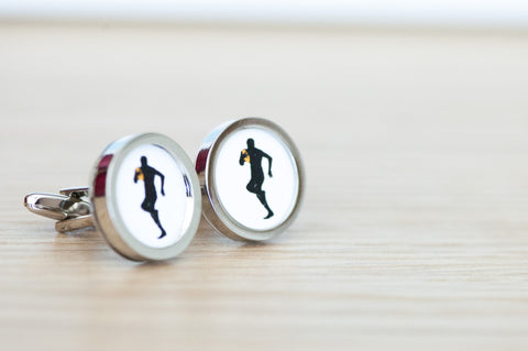 Rugby Player Cufflinks