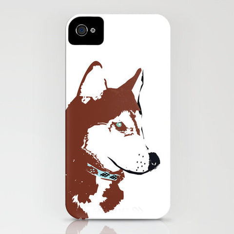Siberian Husky Dog in Brown Colour on Phone Case