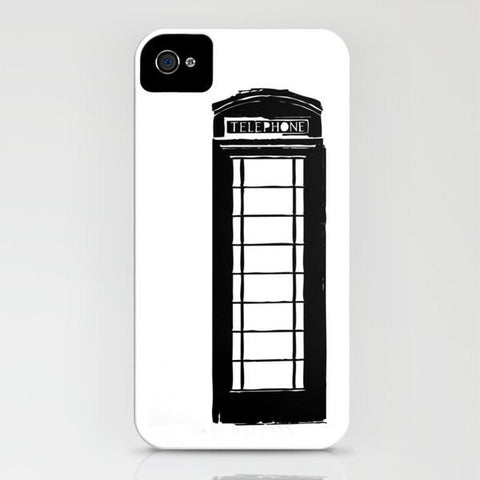 Black Telephone Kiosk On Phone Case