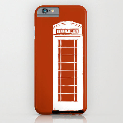 Telephone Kiosk On Red Phone Case