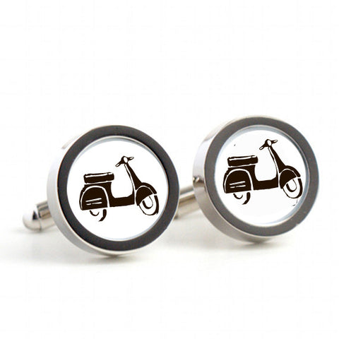Vespa Scooter on cufflinks
