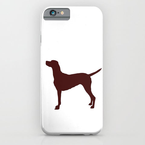 Vizsla Dog on white phone case