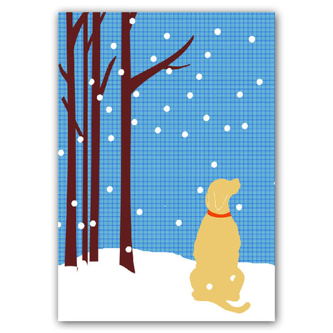 Yellow Labrador Retriever Dog - Art Print