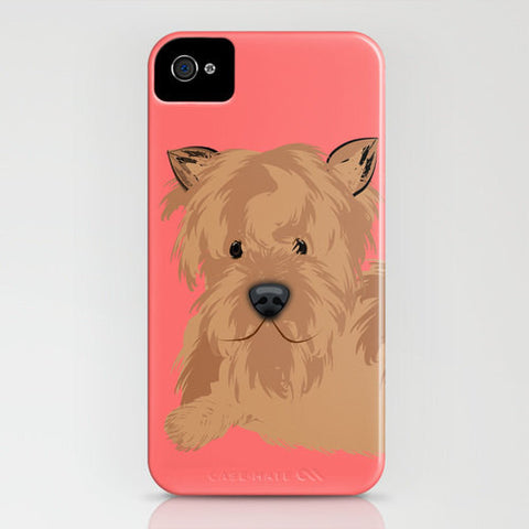 Yorkshire Terrier Dog on Red Phone Case