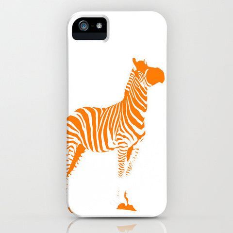 Zebra on Phone Case - Orange