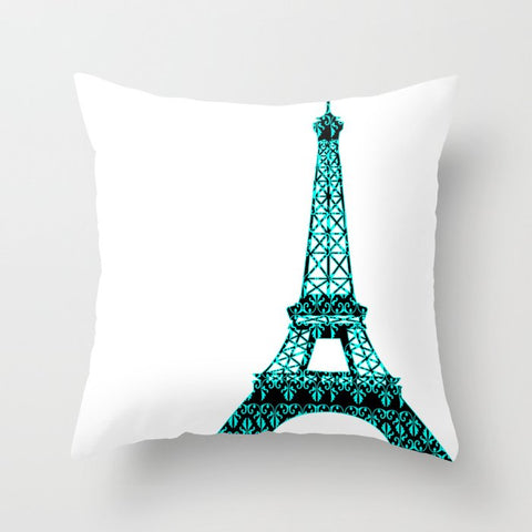 Eiffel Tower on Cushion Cover