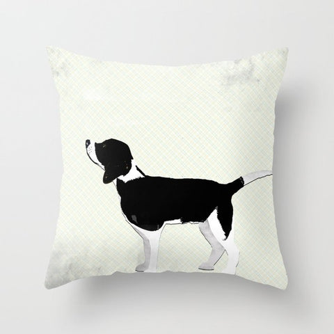 Beagle Dog on Cushion Cover