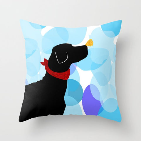 Black Labrador Dog Cushion Cover