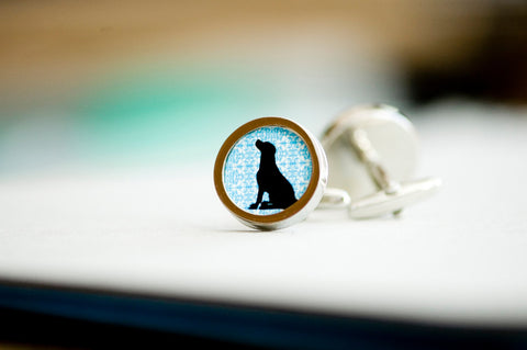 Black dog on your cufflinks