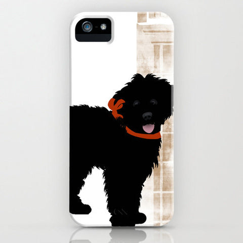 Labradoodle Dog in Black Colour Phone Case