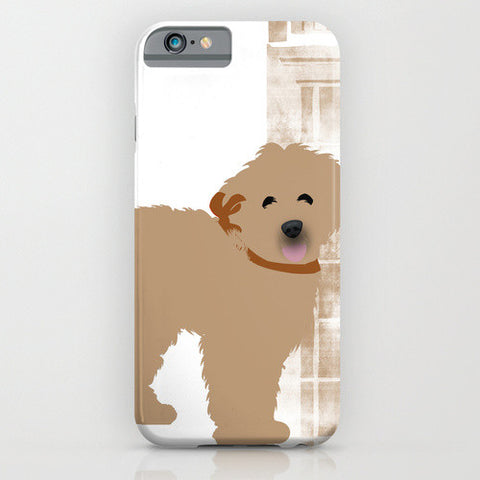 Labradoodle Dog in Brown Colour Phone Case