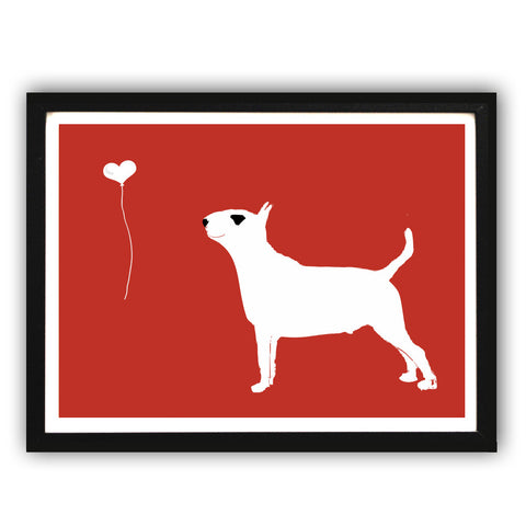 English Bull Terrier Dog's Silhouette Art Print