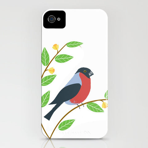 Bullfinch Bird on phone case