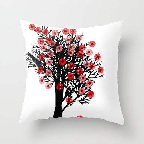 Cherry Blossom Tree on Cushion Cover