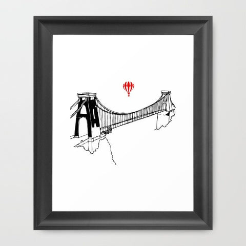 Clifton Bridge Art Print