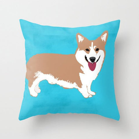 Pembroke Welsh Corgi Dog on Cushion - Cushion, Cushions covers, Gift For Corgi Lovers, Gift for Grandma, Dog Art Prints