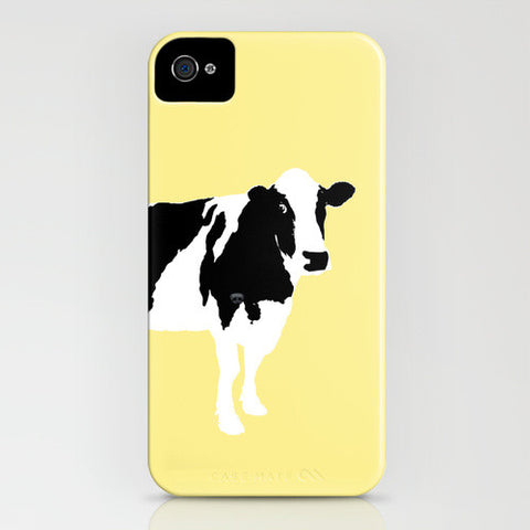 Cow on yellow on your phone case