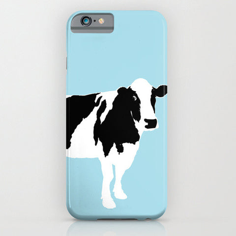 Cow On Blue Phone Case