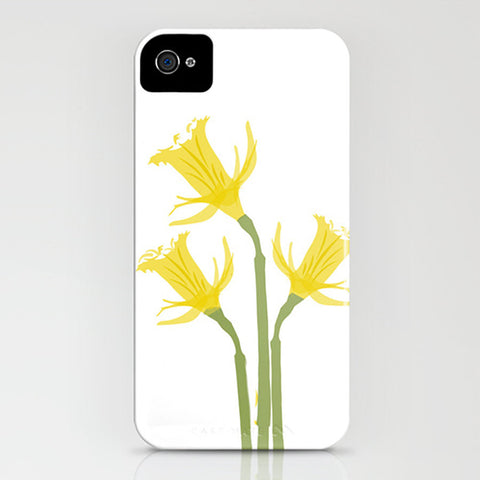Daffodil flowers on your Phone Case