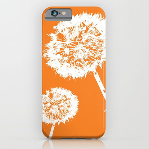 Dandelions on Orange Phone Case