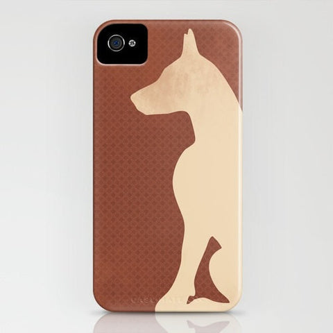 Doberman Dog with cropped ears on phone case