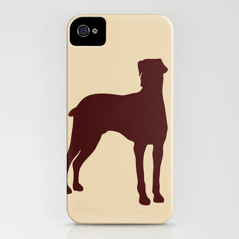Doberman Dog's Silhouette on phone case