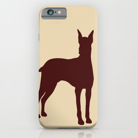 Doberman Dog with cropped ears on phone case II