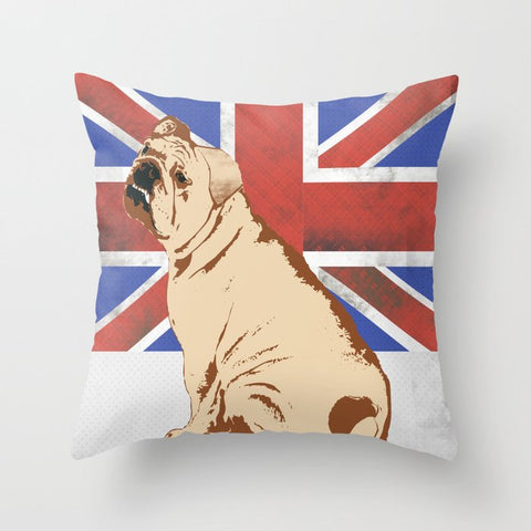 English Bull Dog on Cushion Cover