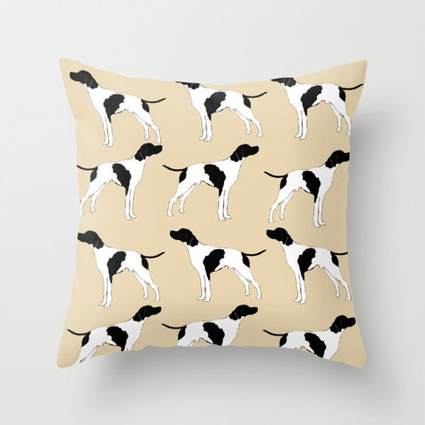 English Pointer Dog on Cushion Cover