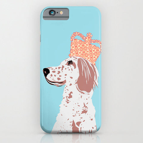 English Setter on phone case