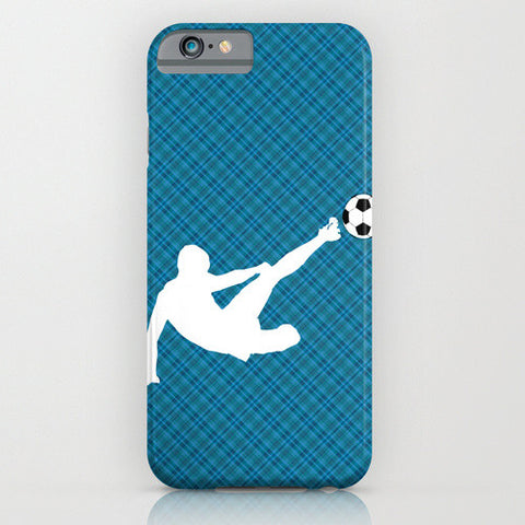 Footballer on Phone Case