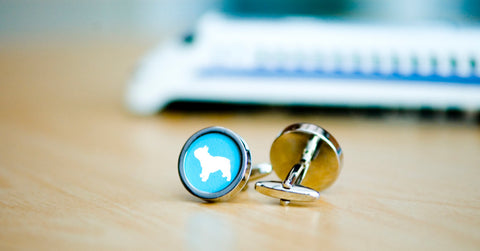 French Bull Dog Silhouette Cufflinks