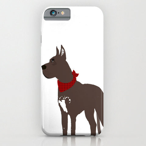 Great Dane Dog in Brown colour Phone Case