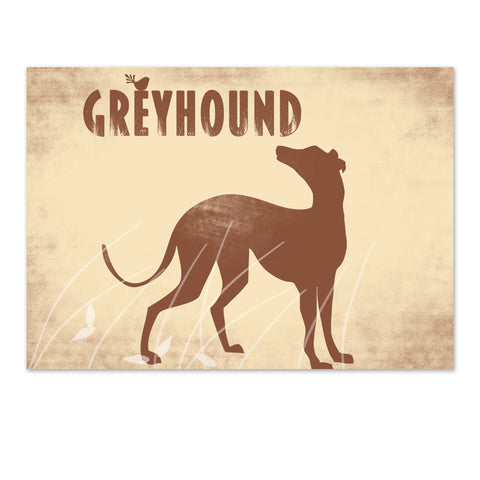 Greyhound Dog in the meadow - Fine art print