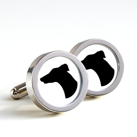 Greyhound Dog Silhouette Cufflinks
