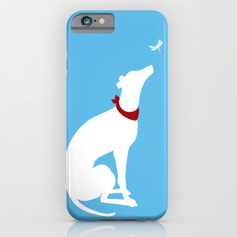 Greyhound Dog And the Dragon Fly on Phone Case