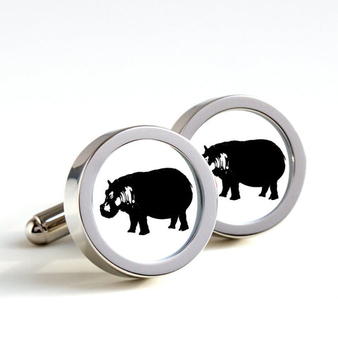 Hippos on cufflinks