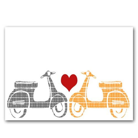 Vespa Scooters in Love Art