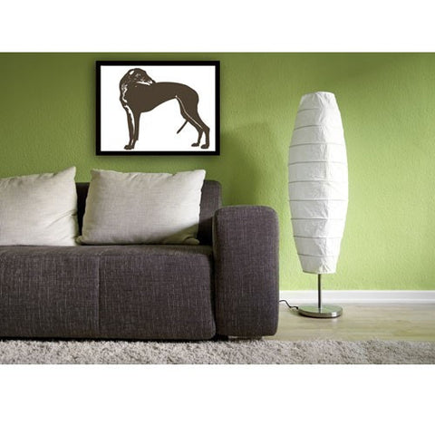 Greyhound Dog Print - Silhouette dog lover, pet, silhouette, coursing game, racing dog, grey colour
