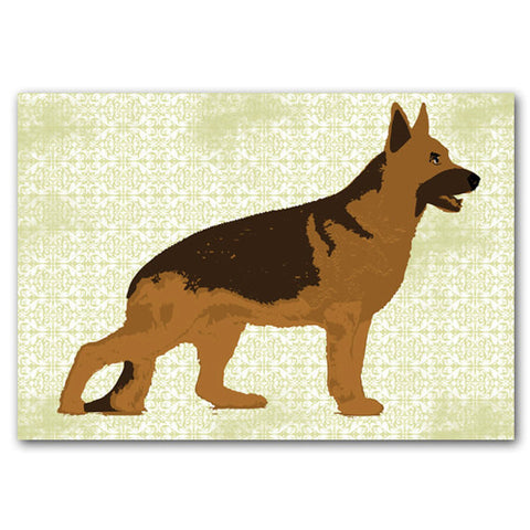 German shepherd art - Fine art print, dog art prints, german shepherd dog, illustration