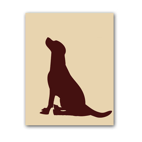 Labrador Retriever Dog Silhouette - Art Print
