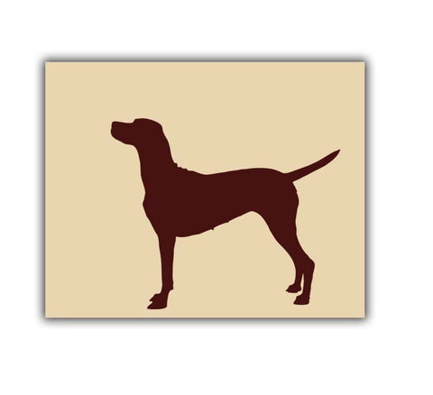 Vizsla Dog Art Print