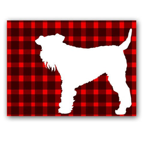Airedale Terrier Dog On Stripes