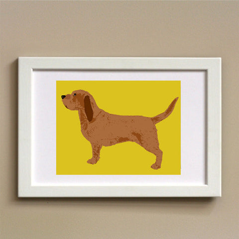 Basset Fauve Dog - Fine art print,portrait, dog art prints, Dog lover, dog decor, brown colour, pet, animal