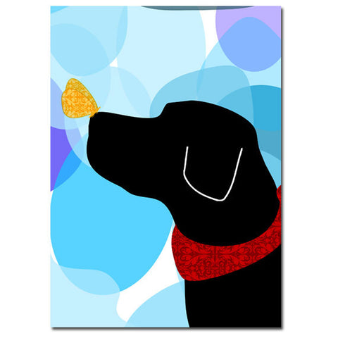 Black Labrador Retriever Dog - Art Print
