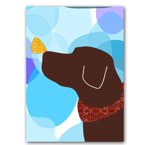 Brown Labrador Retriever Dog - Art Print