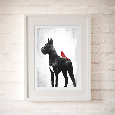 Great Dane Dog Art Print
