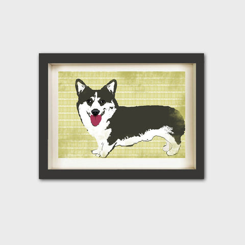 Cardigan Welsh Corgi Dog Art Print