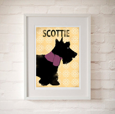 Scottish Terrier Dog illustration Art Print
