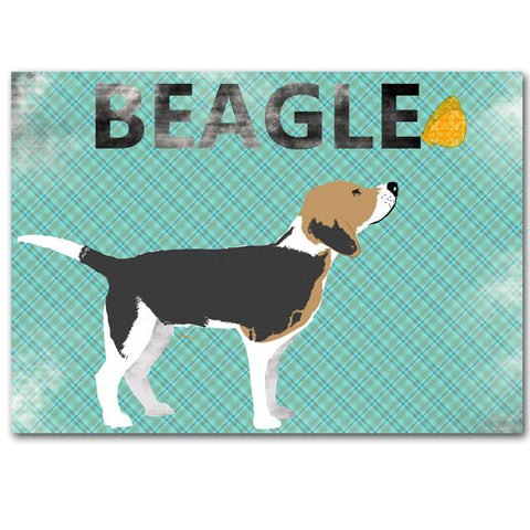 Beagle Dog and Butterfly Art Print